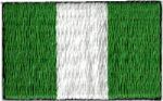 Nigeria Embroidered Flag Patch, style small (discontinued).